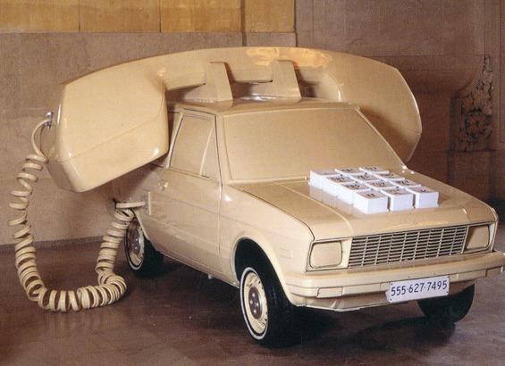 car made to look like giant phone