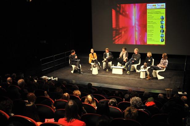 artist talk in auditorium