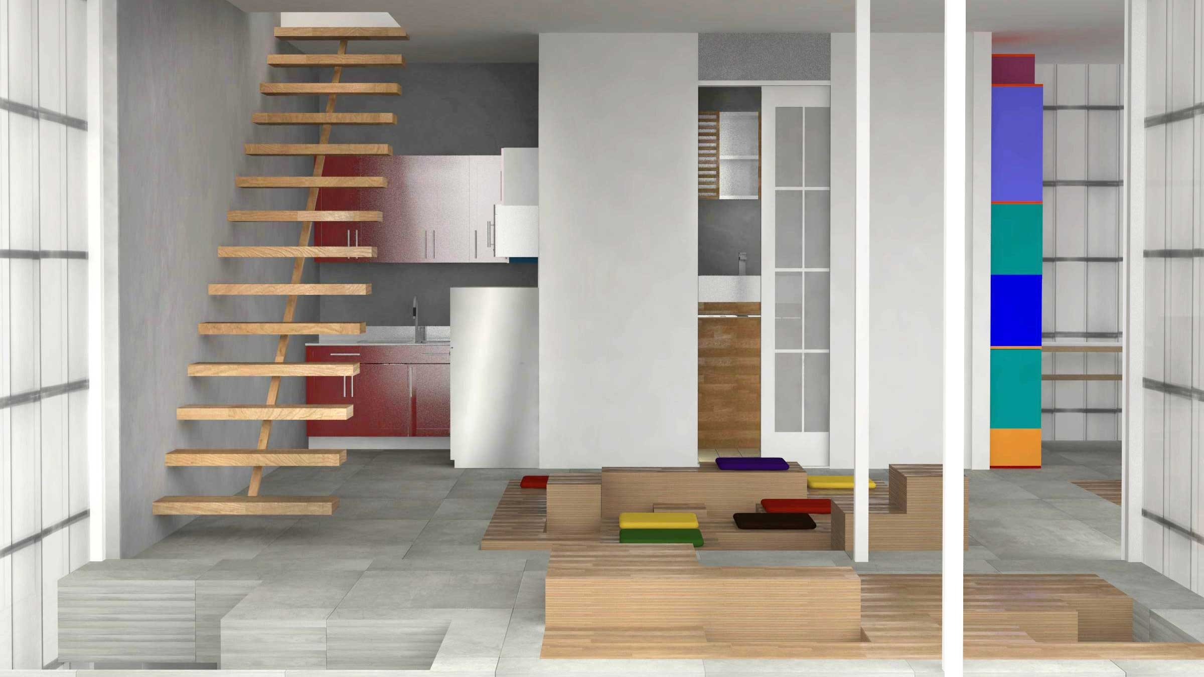 Interior design rendering.