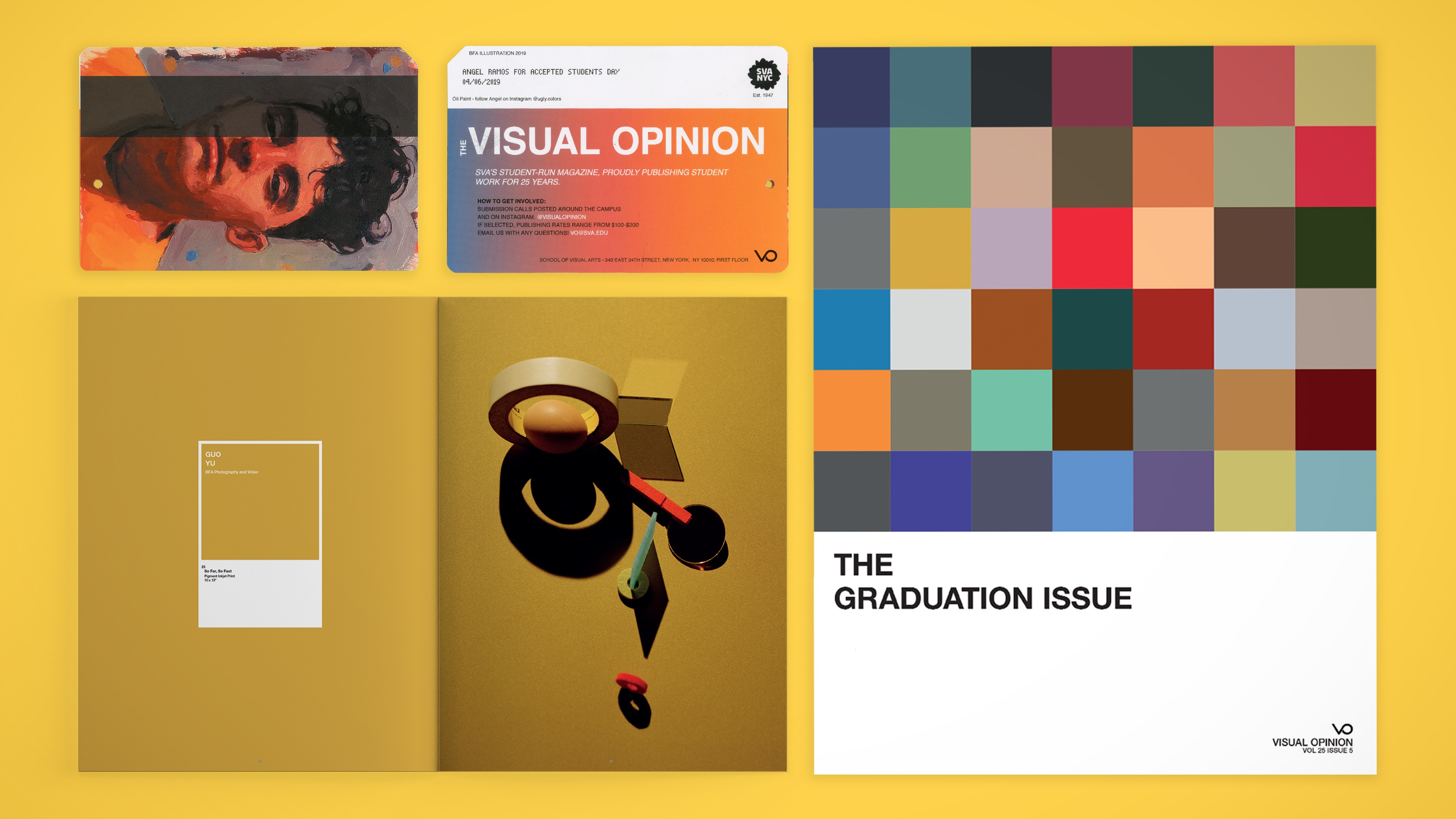 An array of materials published by Visual Opinion.